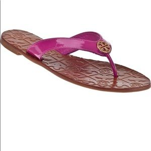 Tory Burch pink sandals with box. Great condition.